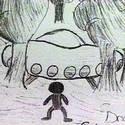 Post Thumbnail of Niños en una escuela de África ven aterrizaje de un OVNI y a su ocupante