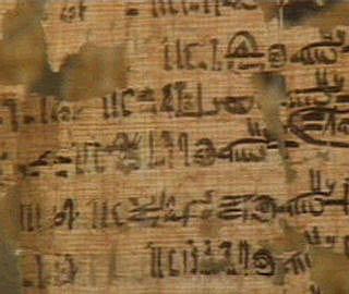 Fragmento del Papiro de Turín.
