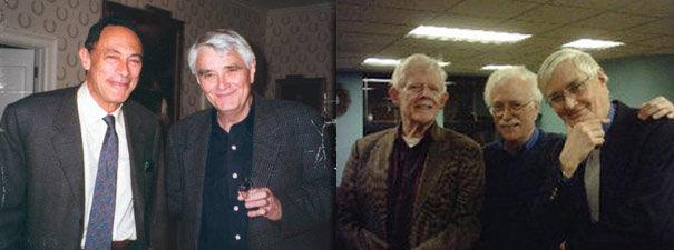 IZQ: John Mack junto a Budd Hopkins. DER: Ted Bloecher, David Jacobs y Budd Hopkins.