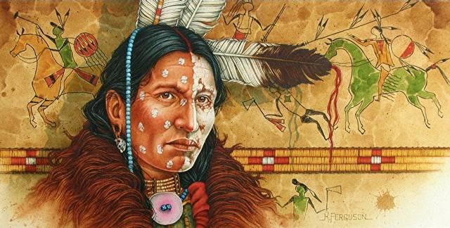 Alce Negro, un hombre sagrado de los indios sioux que conocía el lenguaje secreto de la Creación.