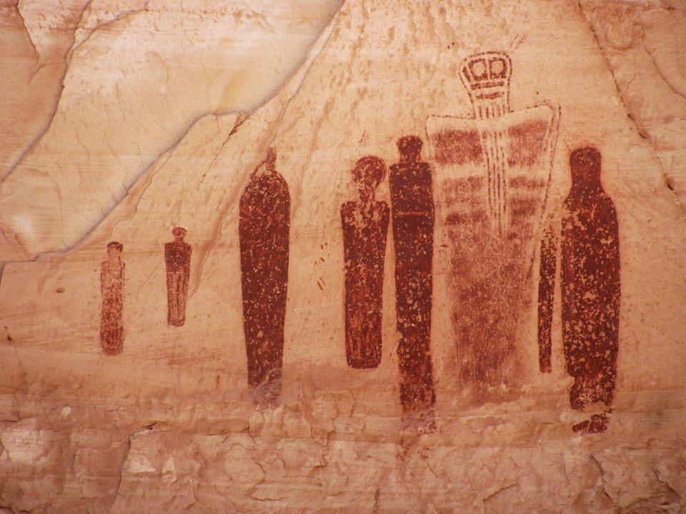 Pinturas rupestres en Horseshoe Canyon, Utah, EE.UU.