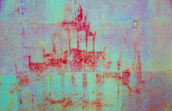 Lo que podría ser la representación del templo de Angkor Wat.
