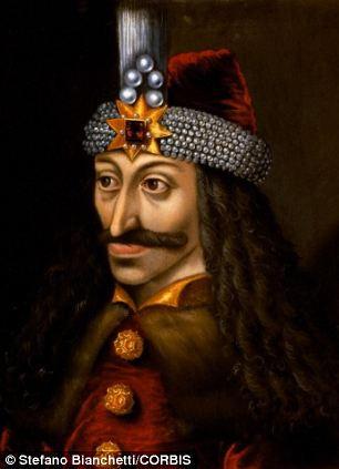 El retrato de Vlad III del Palacio de Ambras (pintura al óleo, c. 1560), copia de un original hecho en vida del príncipe.