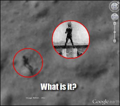 Comparación entre el «Coloso de la Luna» y el «Coloso de Rodas».