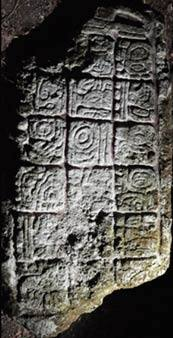 Inscripción con la fecha 29 de noviembre del 711 d.C. Crédito: Ivan Sprajc.