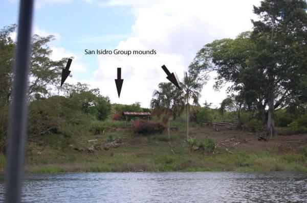 Montículos ubicados en lo que se cree fue la zona residencial de Namaán.