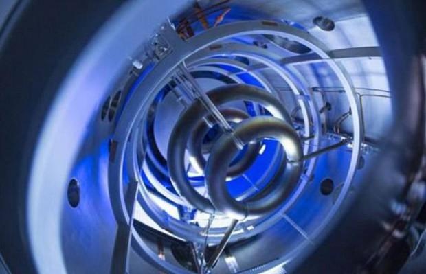Bobina magnética del experimento de fusión compacta de Lockheed Martin.