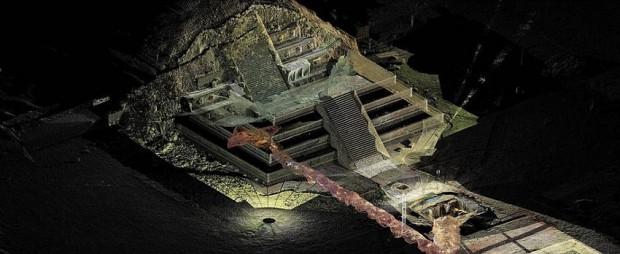 Teotihuacán habría sido construida como una réplica de la manera como se concibió el cosmos: arriba la región celeste, en medio el plano terrenal y abajo el inframundo.