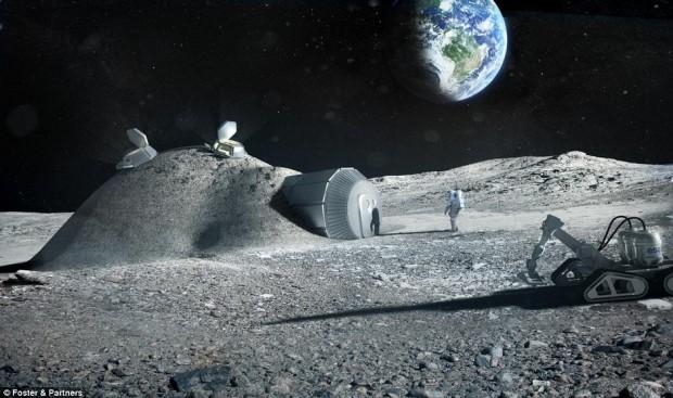 Robots serán enviados a la Luna para ayudar en la construcción del Domo Lunar.