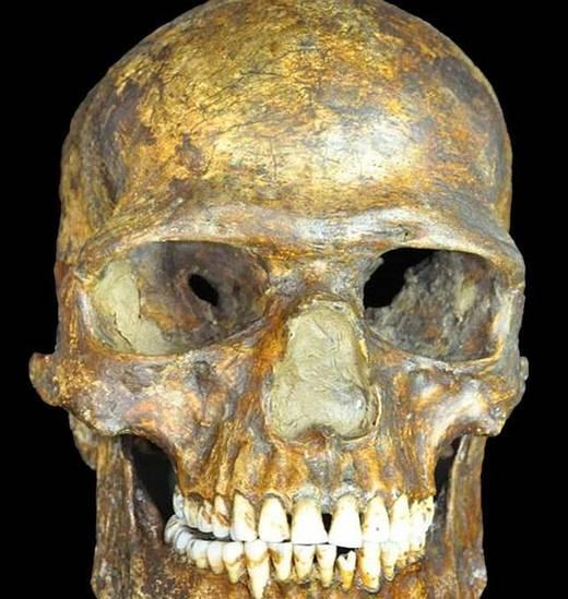 El cráneo del hombre de Kostenki.