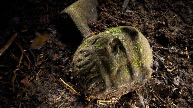 El objeto más llamativo que emerge de la tierra es la cabeza de lo que se especula podría ser un «hombre jaguar», alternativamente, el artefacto podría estar relacionado con los juegos de pelota ritualizados que eran una característica de la vida precolombina en Mesoamérica.