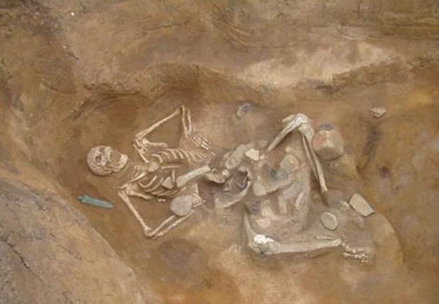 Esqueleto gigante Goliath. Rumania, 2012.