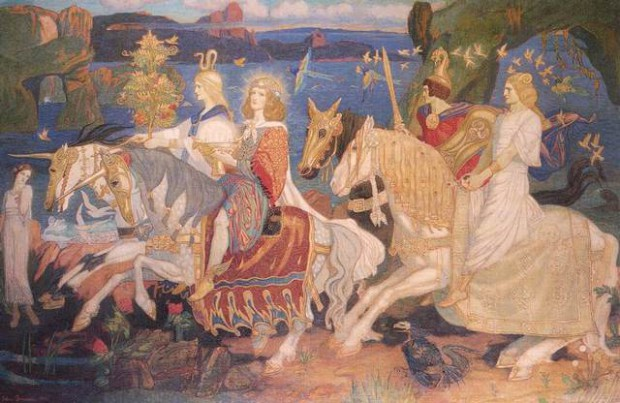 'Los Jinetes de los Sidhe', por John Duncan, 1911.
