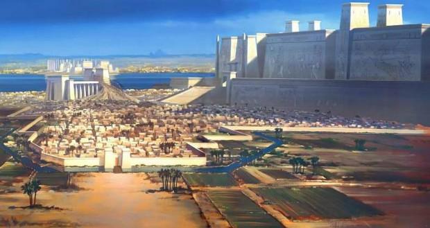 Memfis fue conocida como 'la ciudad de los muros blancos' debido a la enorme muralla que rodeaba el complejo donde se encontraba el templo del dios local Ptah.