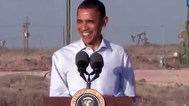 Obama en su visita a Roswell, NM.