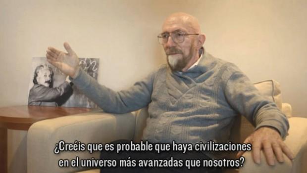 El profesor Kip Thorne durante la entrevista.