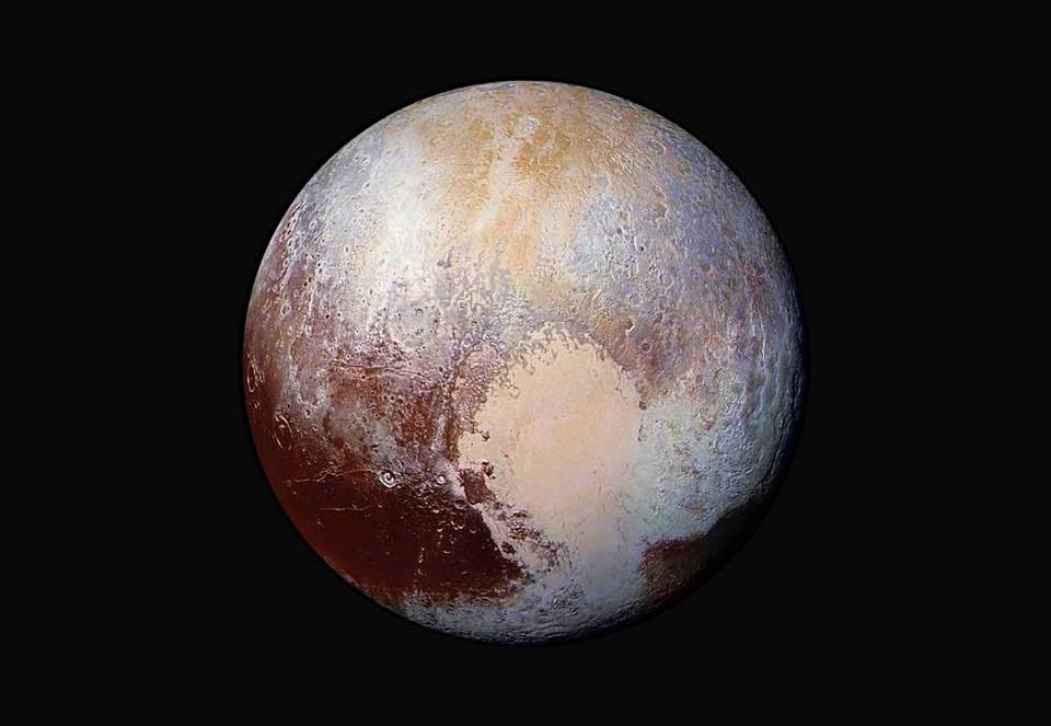 Imagen en falso color de Plutón.