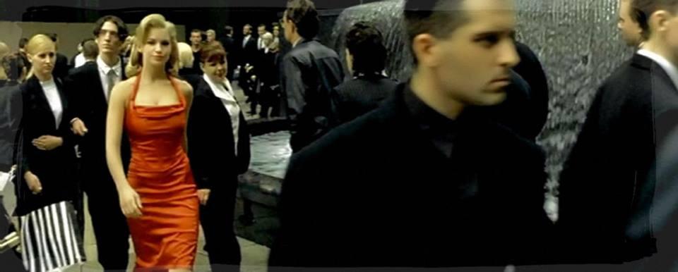 Escena de la película The Matrix.