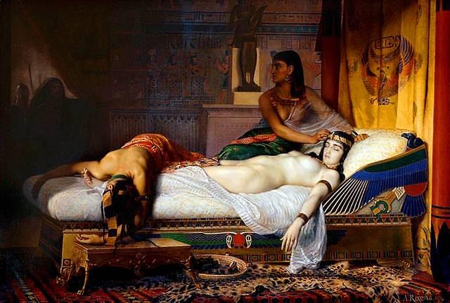 «La Muerte de Cleopatra», 1874, por Jean Andre Rixens.