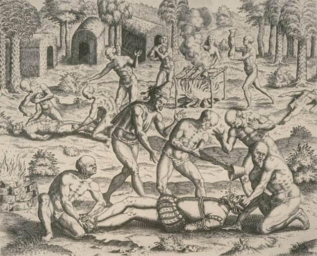 Este dibujo muestra las batallas en la que los nativos le ganaban a Cortés. Finalmente el español venció.