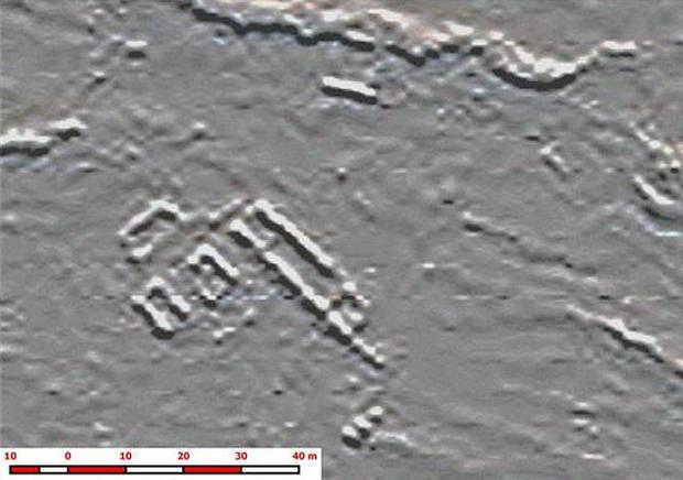 Modelo del conjunto de estructuras de la zona central del santuario inca descubierto por la expedición vasca.