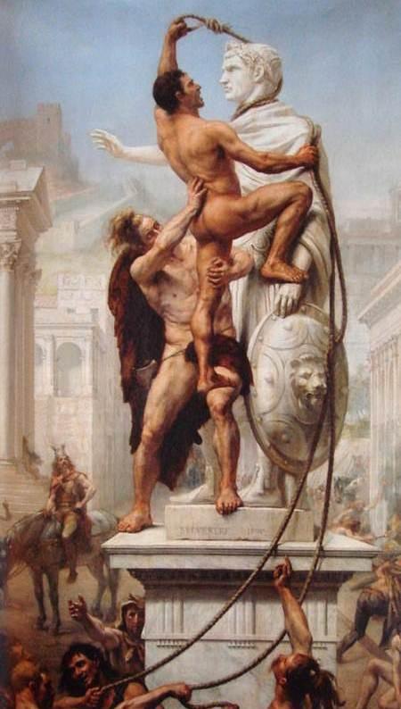 El saqueo Roma por Sylvestre, «Le Sac de Rome», 1890.