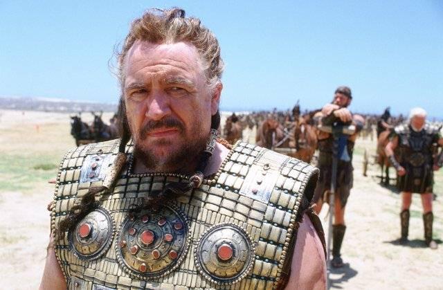 Agamenón, representado por el actor Brian Cox en la película Troya (2006).