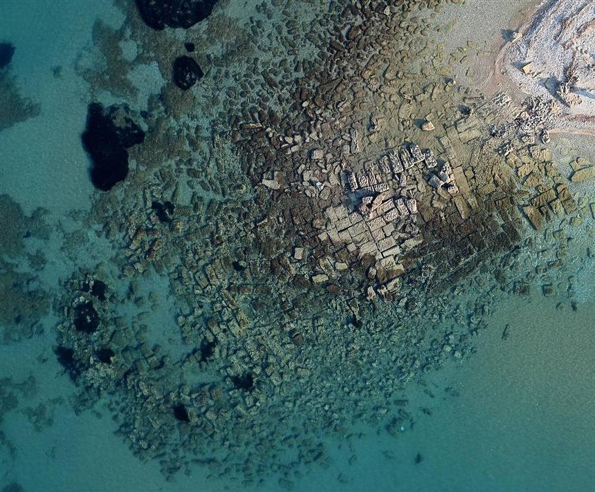 Imagen aérea del muelle oeste.