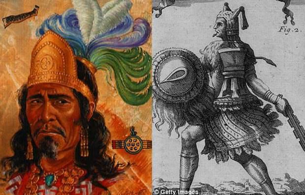 Axáyacatl (izquierda) y Tízoc.