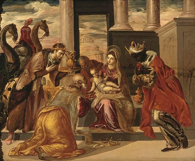 La Adoración de los Reyes Magos, por El Greco, 1568.