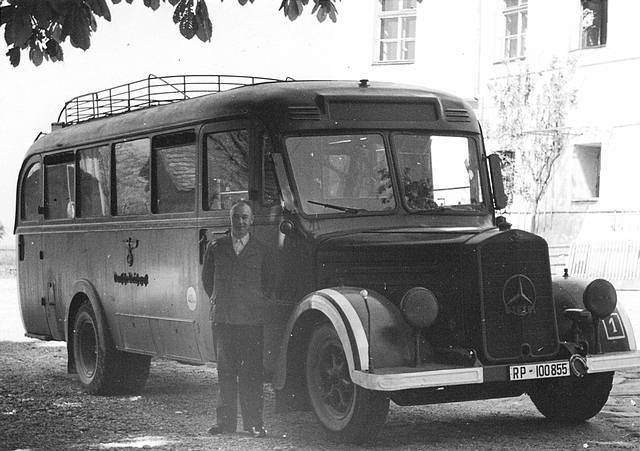 Uno de los autobuses utilizados por 'Aktion T4' para trasladar a los discapacitados.