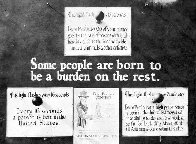 Desde comienzos del siglo XX, el movimiento eugenésico norteamericano contó con el apoyo tanto de instituciones oficiales como de las grandes fortunas, lo que condujo a la aprobación por parte de 32 estados de leyes de esterilización forzada.