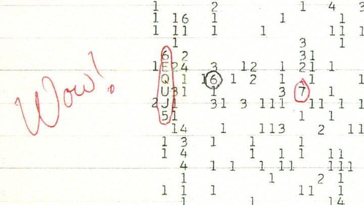 La señal fue conocida como Wow debido a la anotación que el joven profesor Jerry Ehman hizo en el papel continuo, denotando su sorpresa y emoción. La secuencia de dicha señal fue: 6EQUJ5.