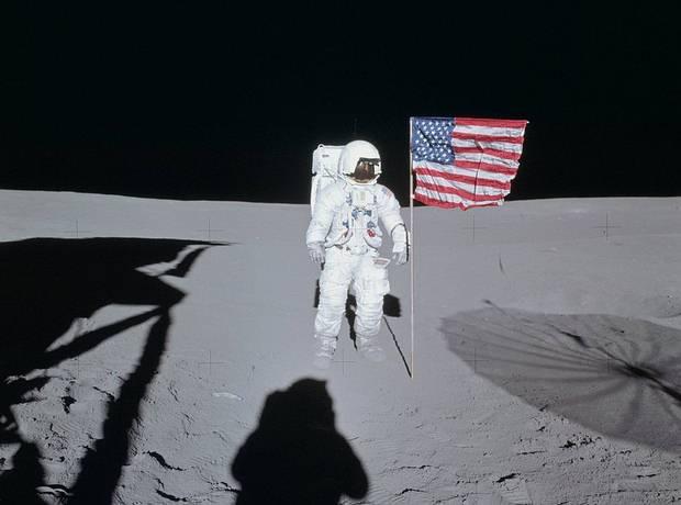 Edgar Mitchell en la Luna, Apolo 14, 1971.
