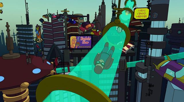 Captura de la serie Futurama.
