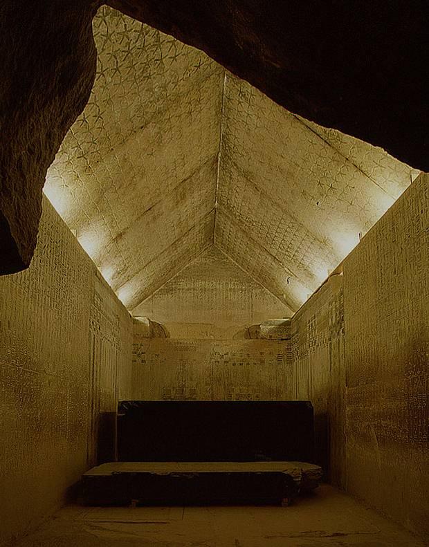 Textos en el interior de la pirámide de Unis.