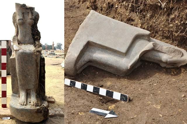 Se cree que las estatuas tienen 3.300 años de antigüedad. La mayor de ellas tiene casi 2 metros de altura.