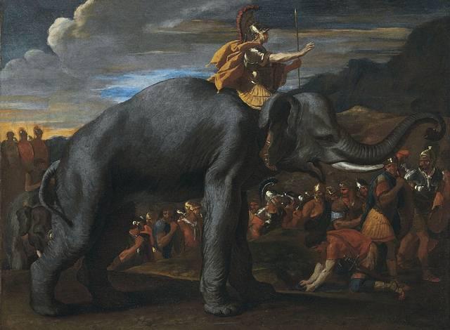 Aníbal llevó 37 elefantes a través de los Alpes.