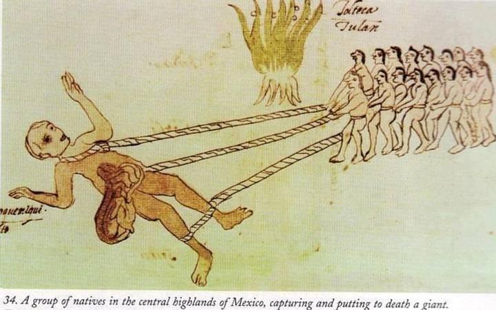 Hombres arrastrando a un gigante muerto, Códice Vaticano.