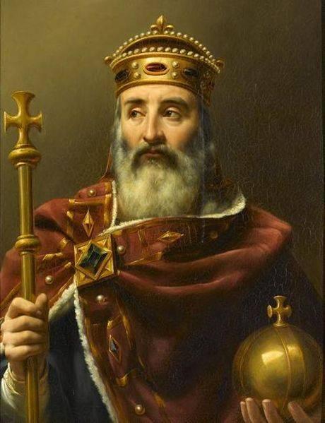 Charlemagne empereur d'Occident, por Louis-Félix Amiel (1839). Museo de la Historia de Francia.