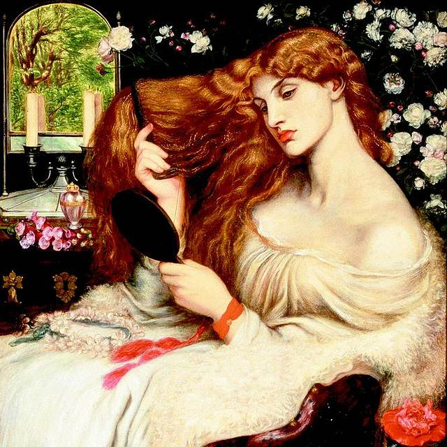 'Lady Lilith', por Dante Gabriel Rossetti.