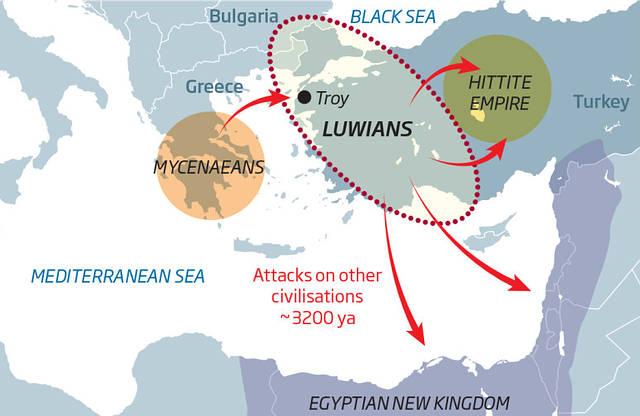 Mapa que muestra el desarrollo de la «Guerra Mundial Cero».