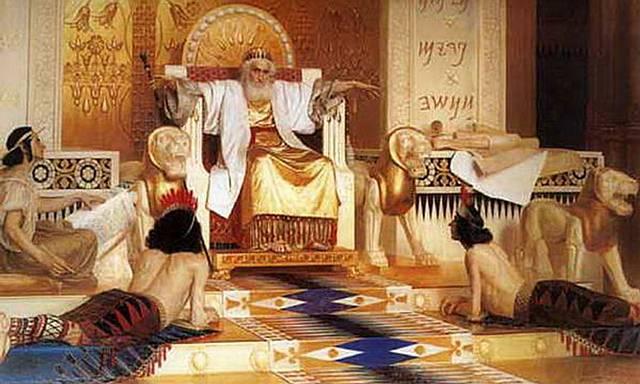 Óleo que representa al rey Salomón ya anciano y meditabundo (Isaak Asknaziy, Rusia, siglo XIX).