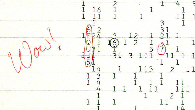 La señal Wow! es la denominación por la cual se conoce en círculos astronómicos a una captación de radio que constituiría el único mensaje recibido hasta la fecha que podría tener un origen extraterrestre y haber sido emitido por seres inteligentes.
