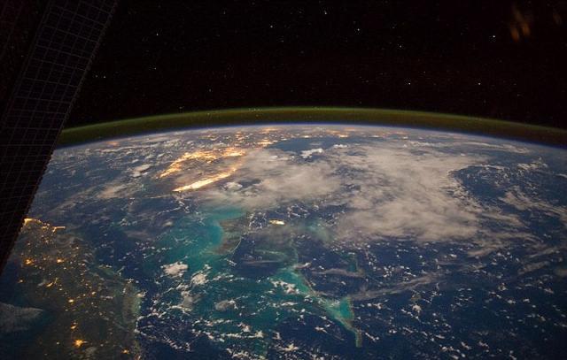 El Mar Caribe visto desde el espacio.