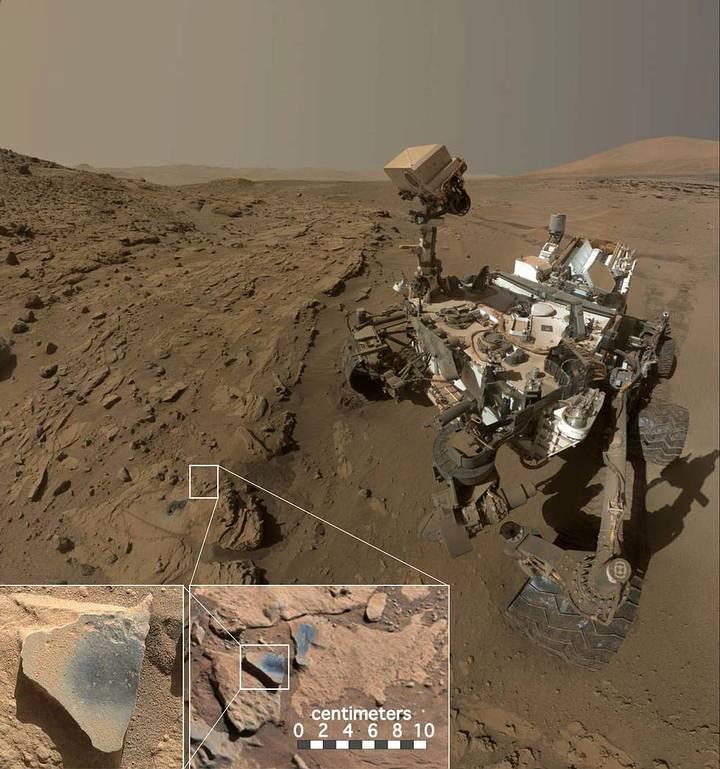 Curiosity encuentra las rocas con óxido de manganeso. (Foto: NASA/JPL-Caltech/MSSS).