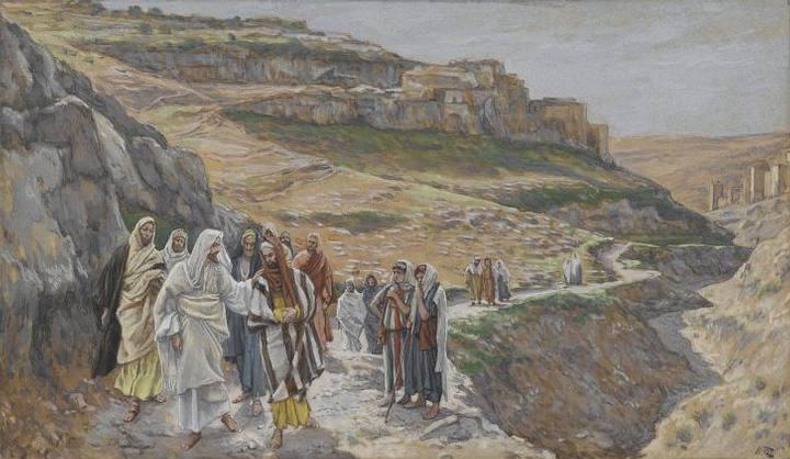 'Jesús conversa con sus discípulos',   James Tissot (1886-1894).