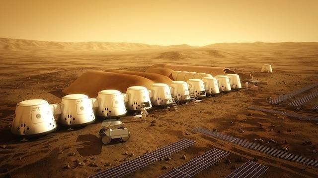 Así luciría el primer asentamiento humano en Marte.