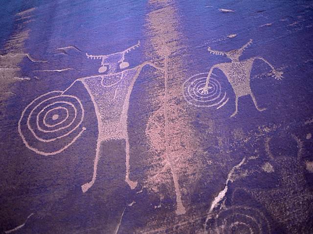 Las espirales son protagonistas de muchas pinturas rupestres de la antigüedad.