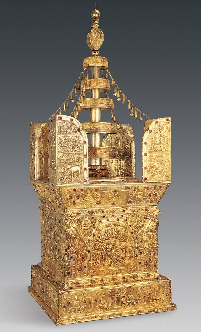 Modelo de estupa. Crédito: Chinese Cultural Relics.